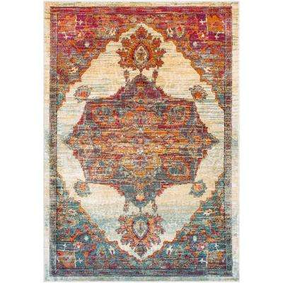 Caius White 3 ft. 11 in. x 5 ft. 11 in. Oriental Area Rug