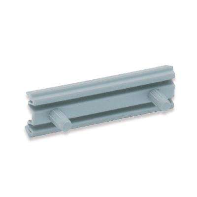 6K351 Series 1 in. Light Gray Handle-Free Cabinet Hardware Straight Bracket