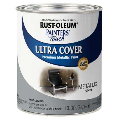 32 oz. Ultra Cover Metallic Silver General Purpose Paint