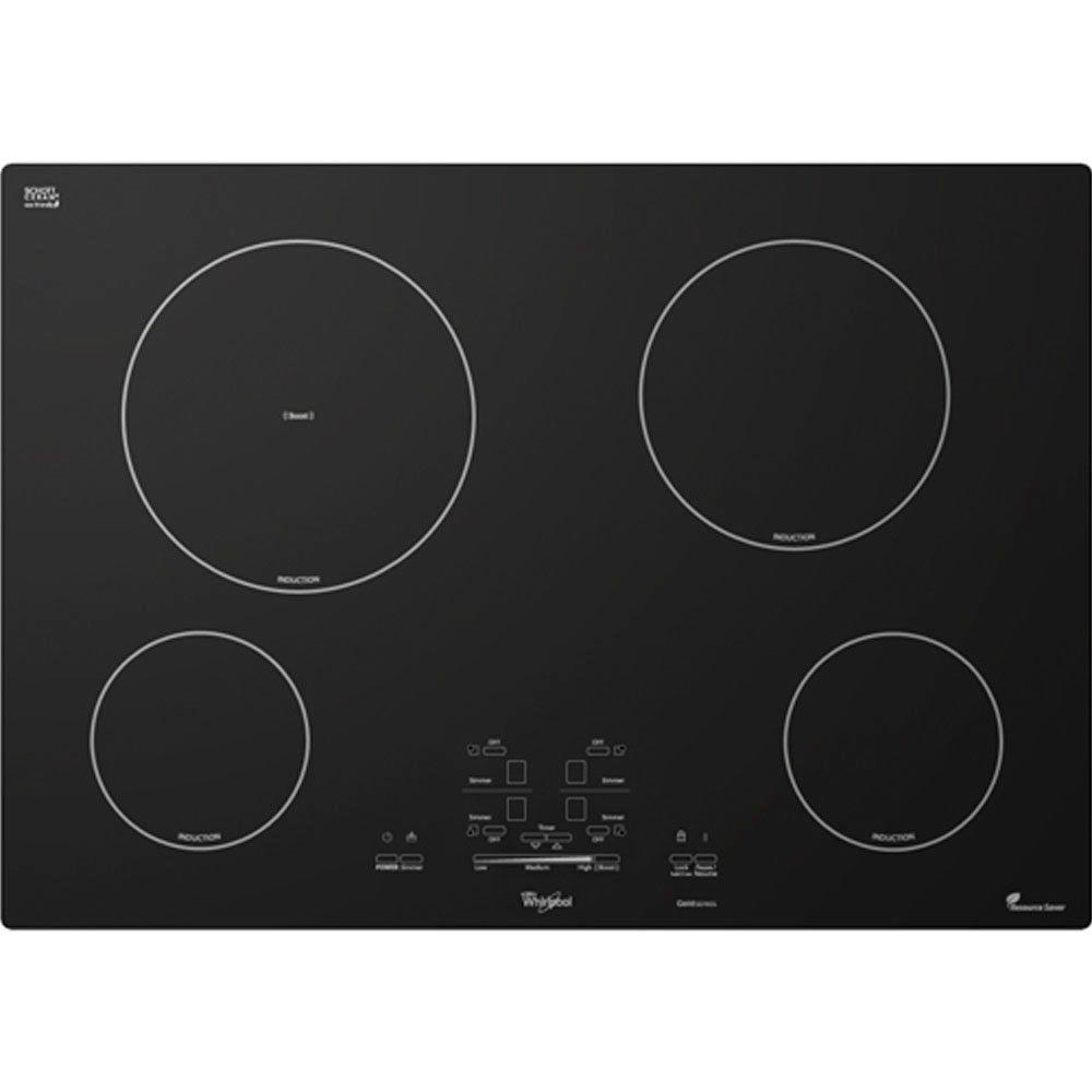 whirlpool gold 30 in smooth surface induction cooktop in black with 4 elements including boost. Black Bedroom Furniture Sets. Home Design Ideas