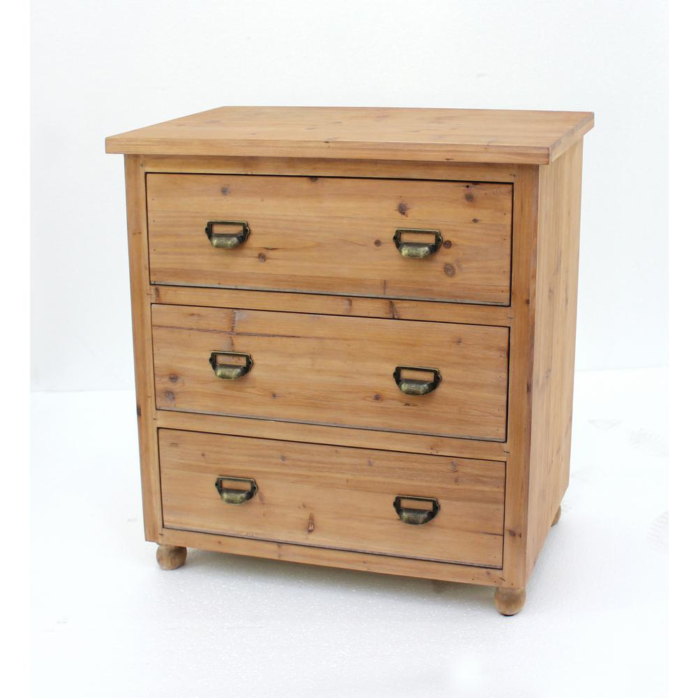 3 Drawer Cabinet Wood