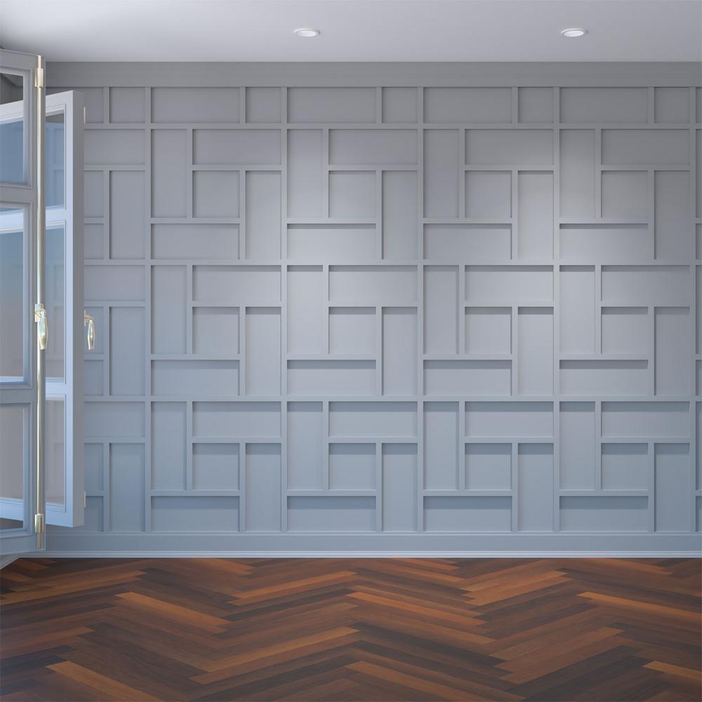 "3/8"" x 23-3/8"" x 23-3/8"" Sheffield Decorative Fretwork Wall Panels in Architectural Grade PVC"