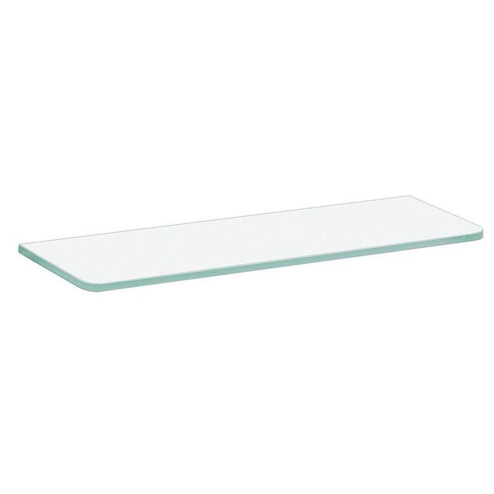 Dolle 16 in. x 5 in. x 5/16 in. Standard Glass Line Shelf in Frosted