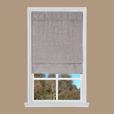 Taupe Velveteen Cordless Roman Shade - 35 in. W x 64 in. L
