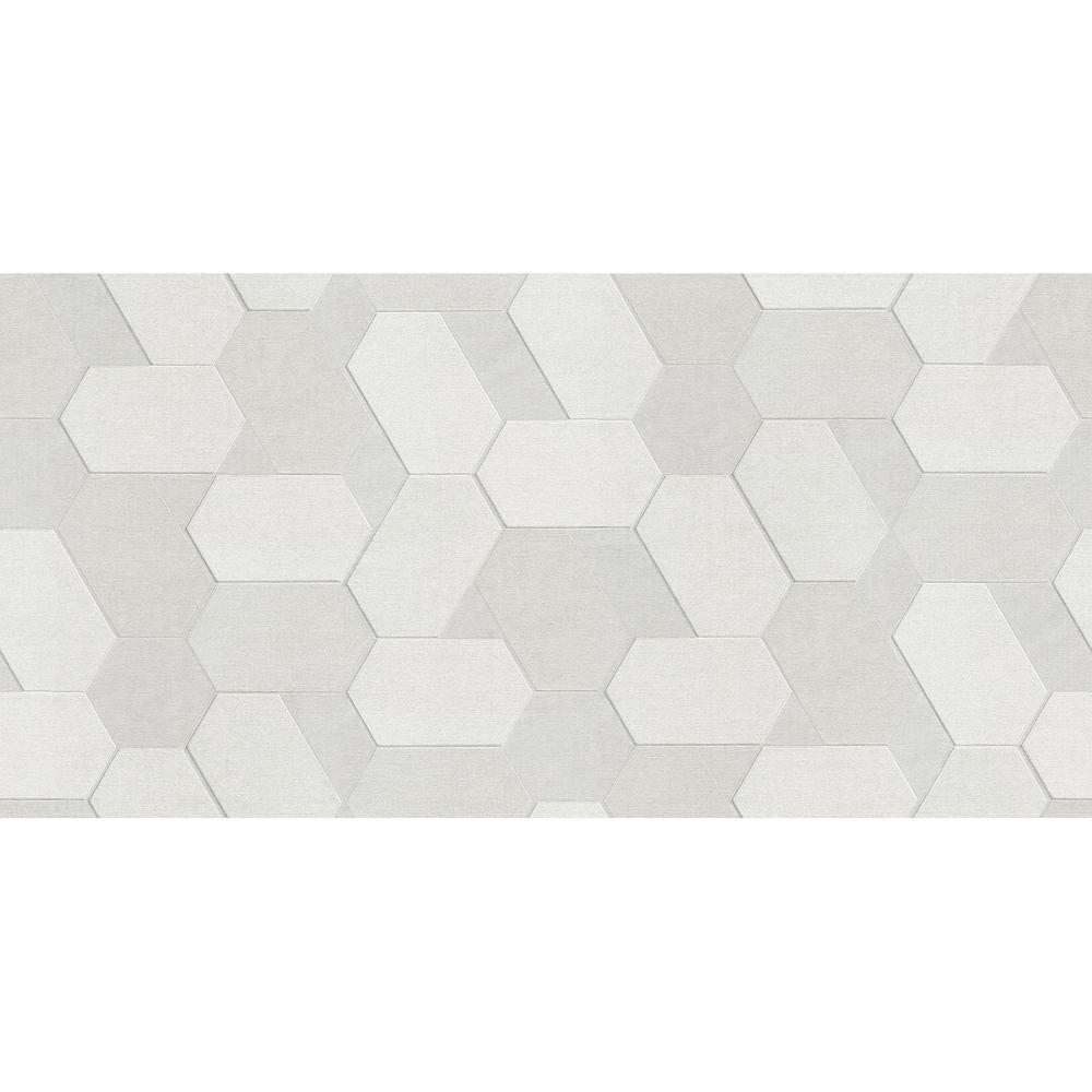 Plaza Ivory Geometric Wallpaper