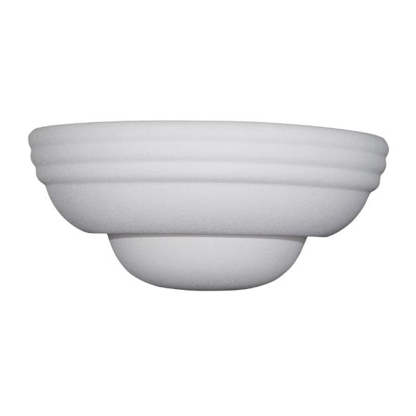 Value Wall Sconce 1-Light White Wall Mount Sconce with White Shade