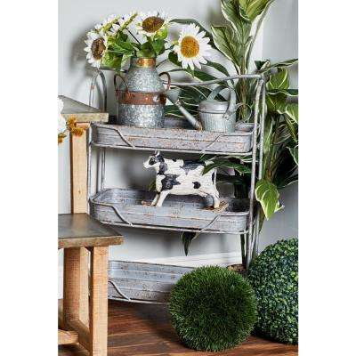 Gray 3-Tiered Garden Rack