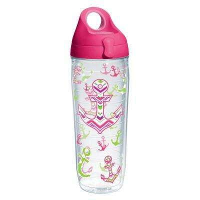 Anchors Away 24 oz. Double Walled Insulated Water Bottle