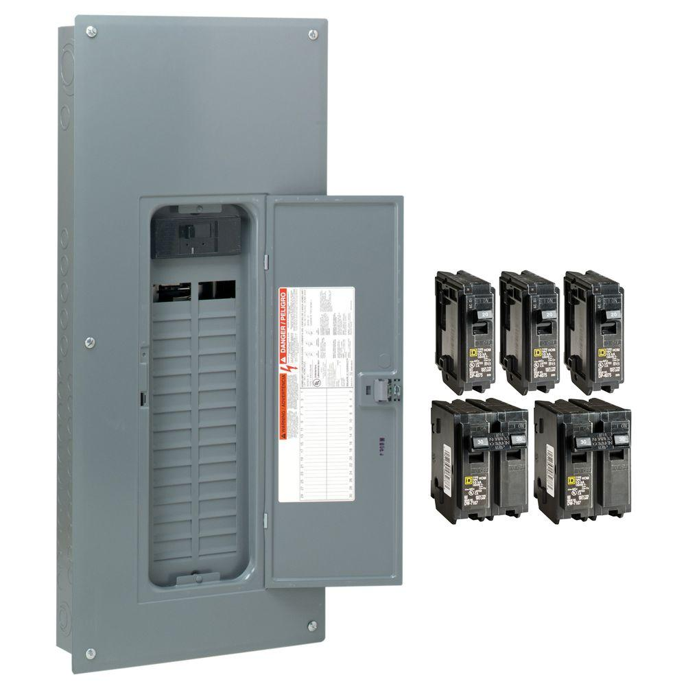 Square d homeline 200 amp 30 space 60 circuit indoor main breaker square d homeline 200 amp 30 space 60 circuit indoor main breaker plug on neutral load center with cover value pack hom3060m200pcvp the home depot greentooth Choice Image