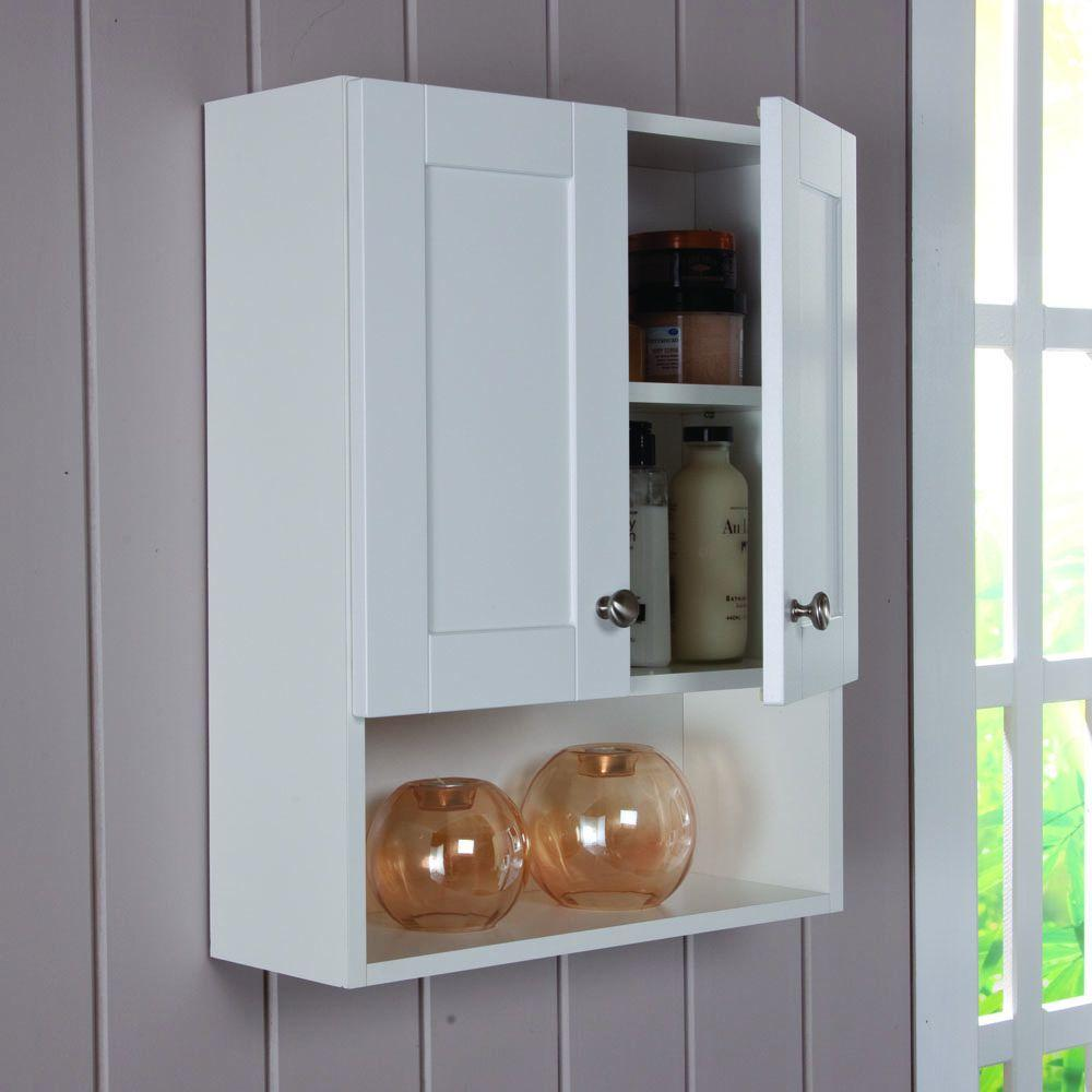 Over The Toilet Bathroom Storage Mount Space Adjustable Shelf Wood ...