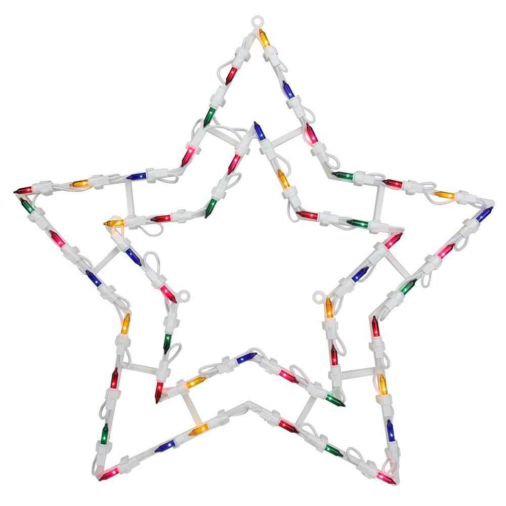 Christmas Lighted Star Window Silhouette Decoration (4-Pack)