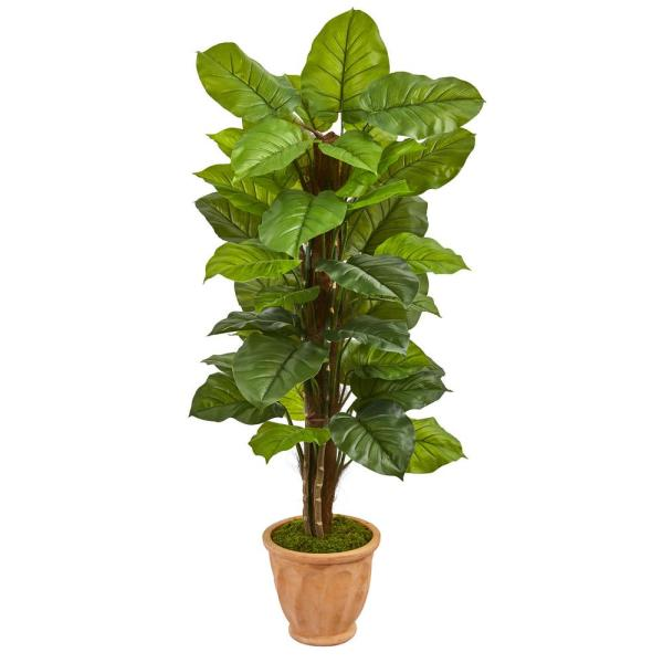 Nearly Natural Real Touch 5 Ft Indoor Large Leaf