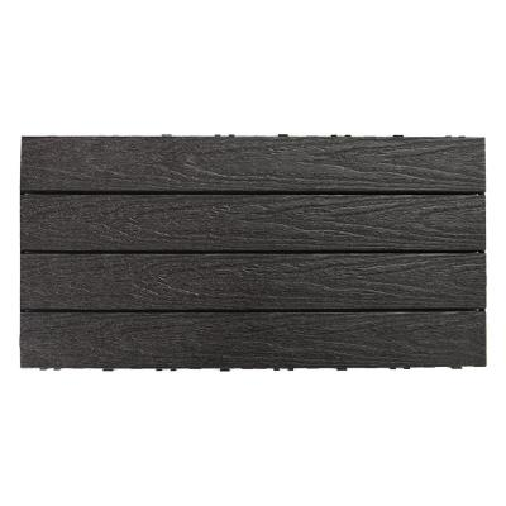 UltraShield Naturale 1 ft. x 2 ft. Quick Deck Outdoor Composite Deck Tile in Hawaiian Charcoal (20 sq. ft. per Box)