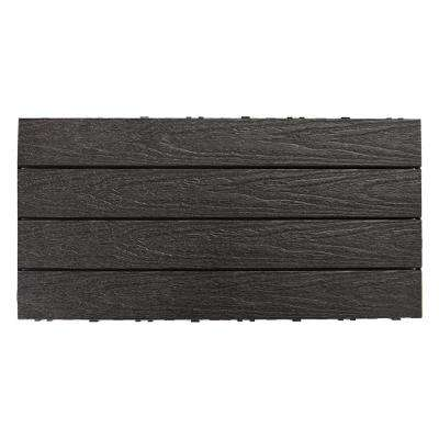 UltraShield Naturale 1 ft. x 2 ft. Quick Deck Outdoor Composite Deck Tile in Hawaiian Charcoal (20 sq. ft. per Box)
