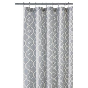 Home Decorators Collection Nuri 72 In. Shower Curtain In Pewter 9848600290    The Home Depot