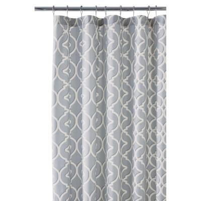 Home Decorators Collection Nuri 72 In Shower Curtain Pewter 9848600290 The Depot