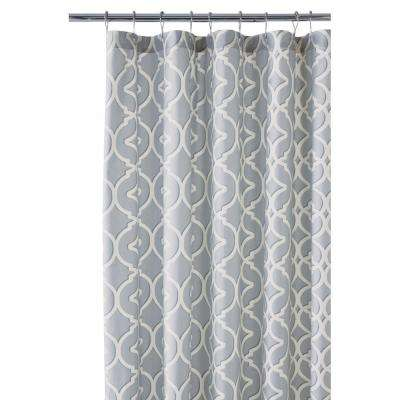 Nuri 72 in. Shower Curtain in Pewter