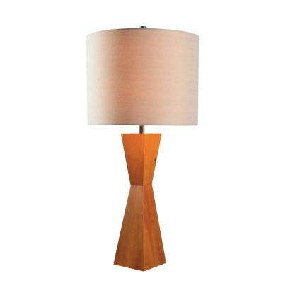 Wood table lamps lamps the home depot wood table lamp with tan shade aloadofball Choice Image