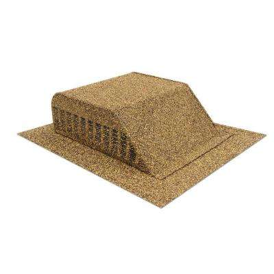 Granule-Coated Aluminum Slant Back Static Roof Vent in Shakewood Brown