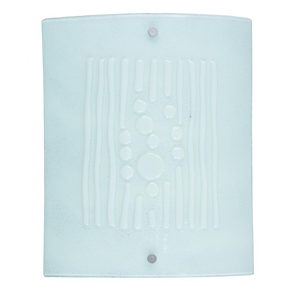 Springdale Lighting Snow 75 Watt Silver Integrated Led Wall Sconce