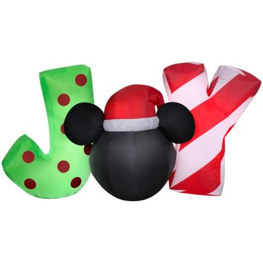 5 ft. Wide Airblown-Mickey Head JOY Sign-SM Scene-Disney