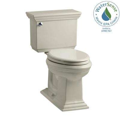 Memoirs Stately 2-piece 1.28 GPF Single Flush Elongated Toilet with AquaPiston Flush Technology in Sandbar