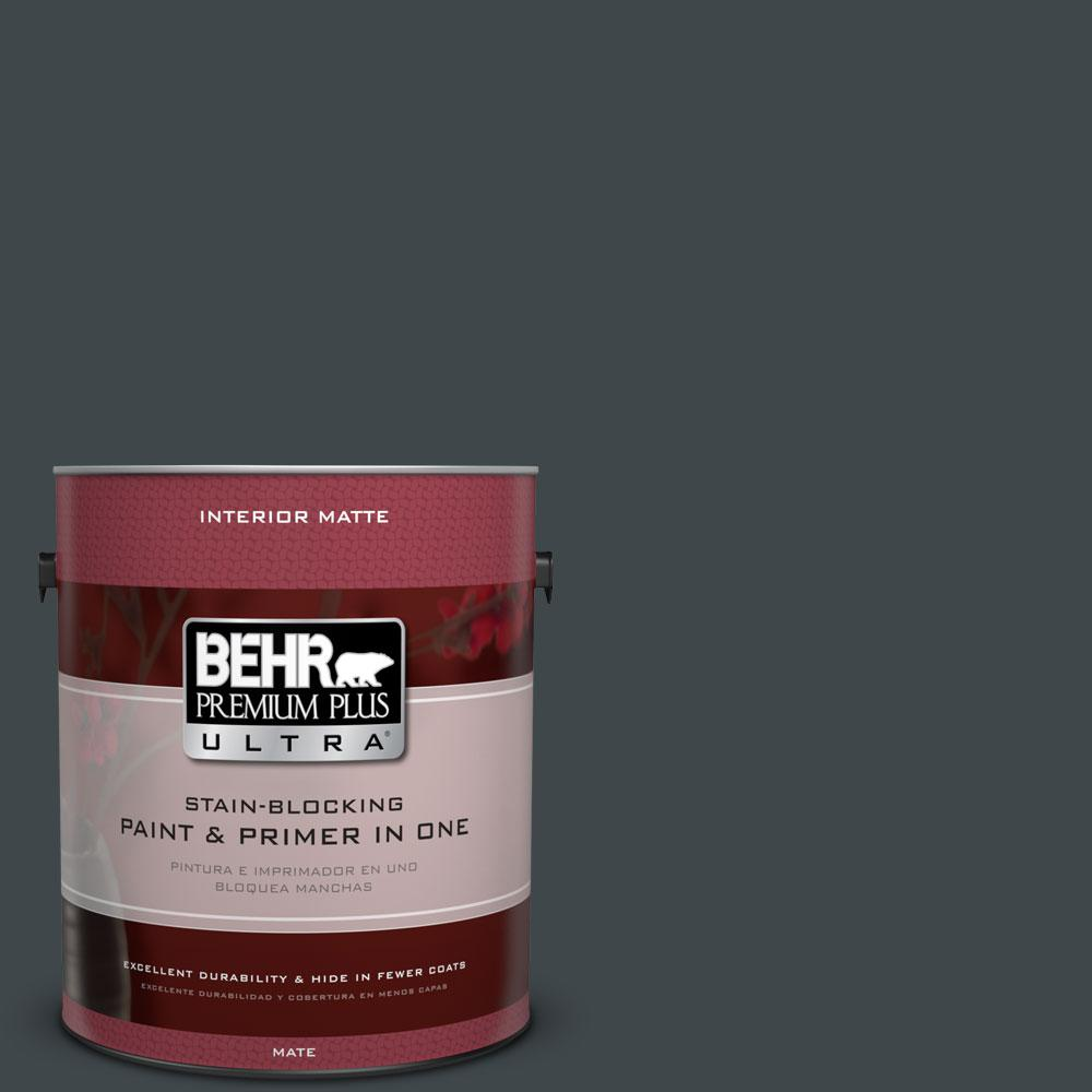 1 gal. #730F-7 Black Sable Flat/Matte Interior Paint