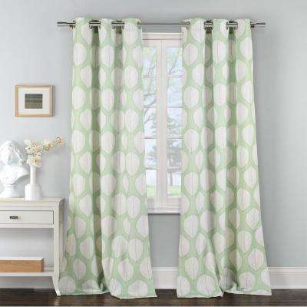 Zaria 38 in. W x 84 in. L Polyester Window Panel in Green