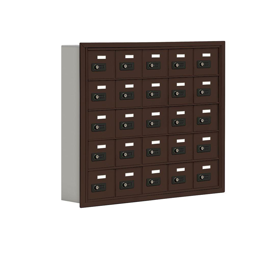 Salsbury Industries 19000 Series 37 in. W x 31 in. H x 5.75 in. D 25 A Doors R-Mount Resettable Locks Cell Phone Locker in Bronze