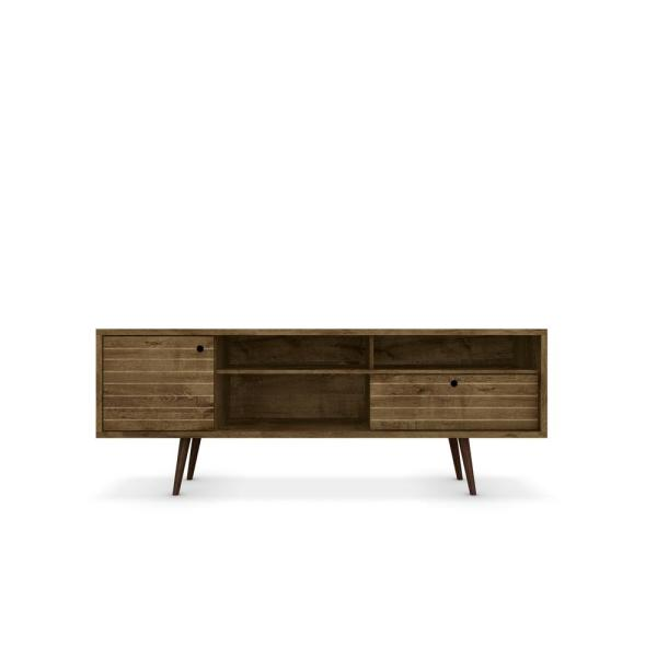 Liberty 71 in. Rustic Brown Composite TV Stand with 1 Drawer Fits TVs Up to 65 in. with Storage Doors