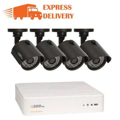 Wired 8-Channel 720p 1TB Video Surveillance System with (4) 720p Cameras and 100 ft. Night Vision