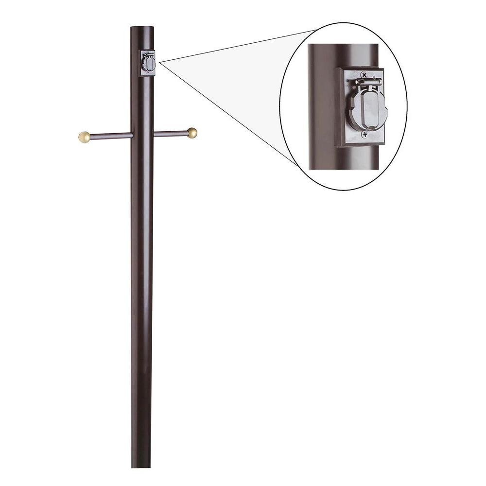 Outdoor Lamp Clearance: Design House Black Lamp Post With Cross Arm And Electrical