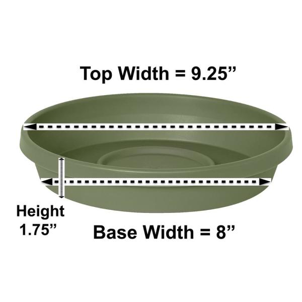 Terra Plant Saucer Tray 9 in Living Green
