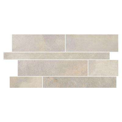 Developed by Nature Pebble 12 in. x 24 in. x 10 mm Glazed Porcelain Random Mosaic Tile