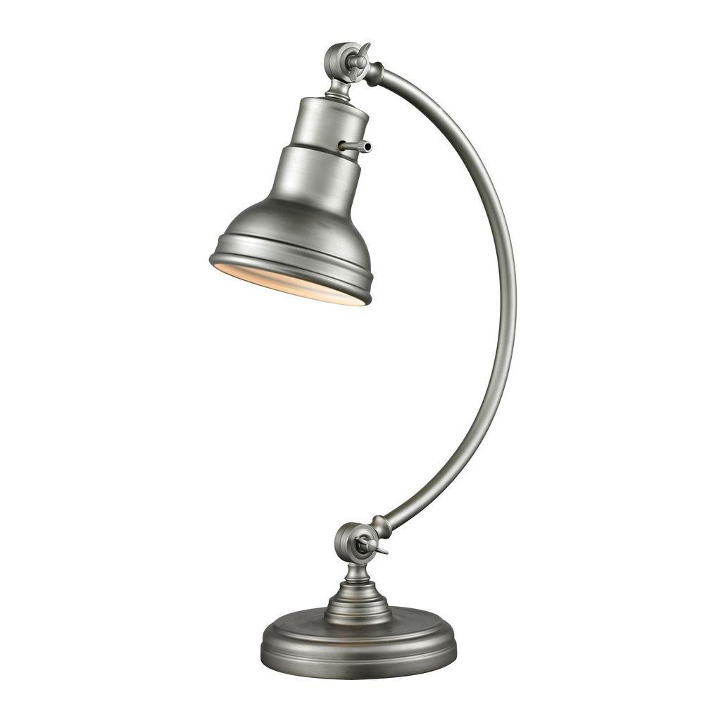 Nicolay 20 in. Burnished Silver Table Lamp