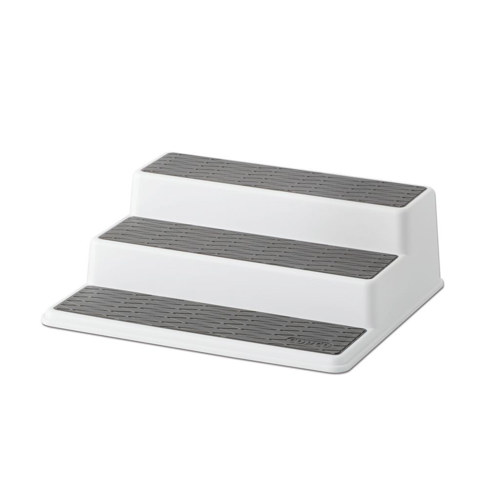 10 in. Gray Non-Skid 3-Tier Cabinet Organizer