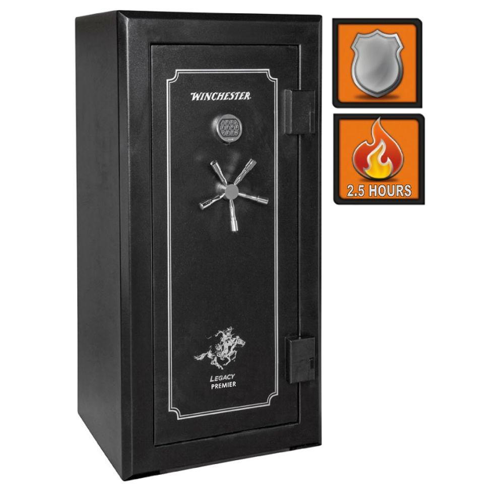 Winchester Safes Legacy Premier 26 28-Gun Black Gloss Fire-Safe Electronic Lock