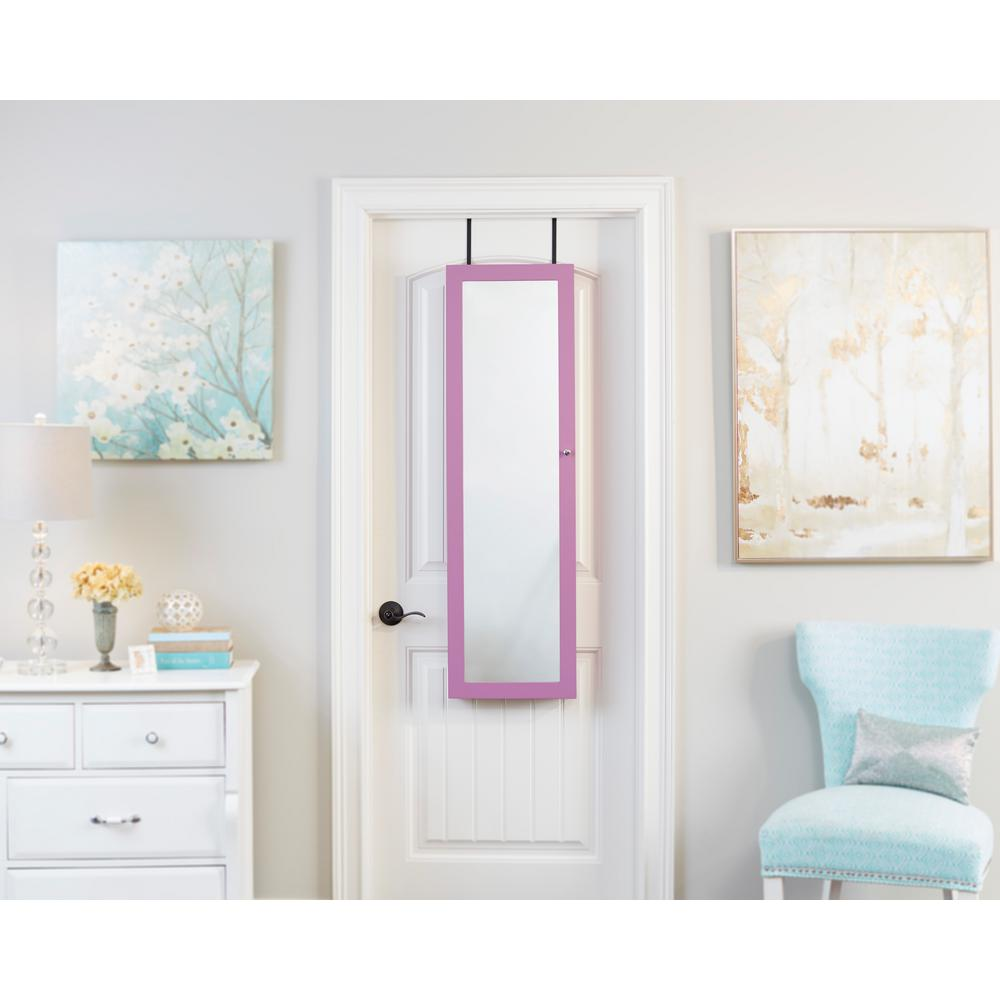 Purple Mirrored Jewelry Armoire