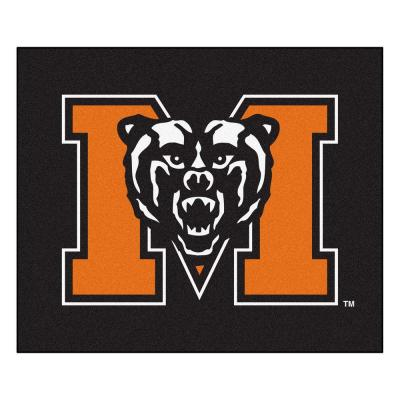 NCAA Mercer University Black 5 ft. x 6 ft. Area Rug