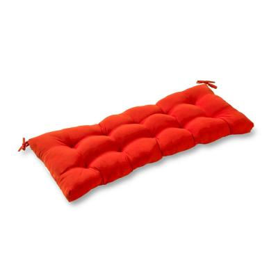 Solid Salsa Red Rectangle Outdoor Bench/Swing Cushion