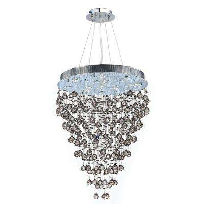Icicle Collection 13-Light Crystal and Chrome Chandelier