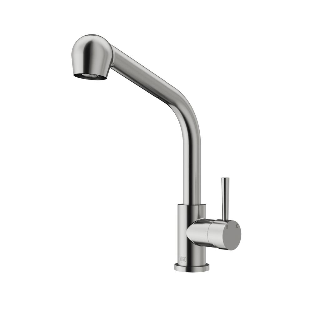 VIGO Avondale Single-Handle Pull-Out Sprayer Kitchen Faucet with ...