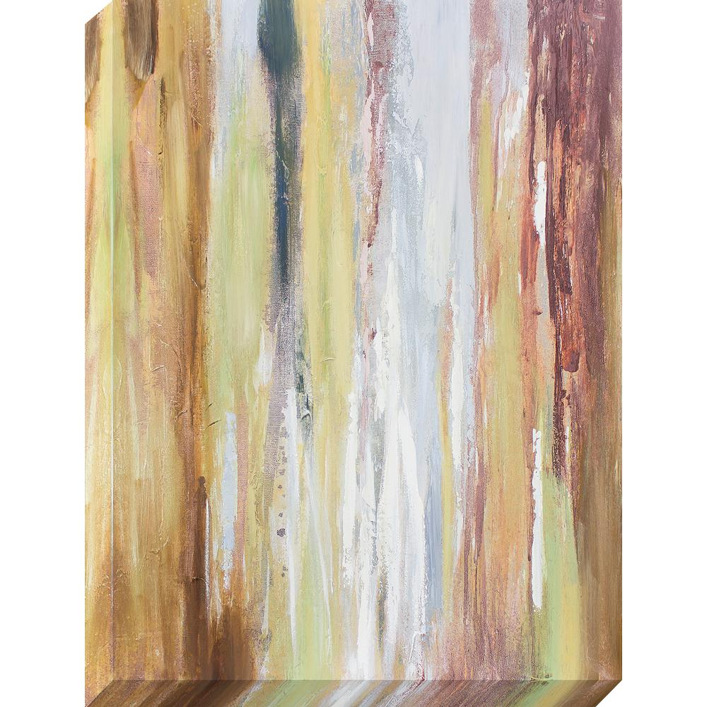 Decor Therapy 40 in. x 30 in. Earth Tones Oil Painted Canvas Wall ...