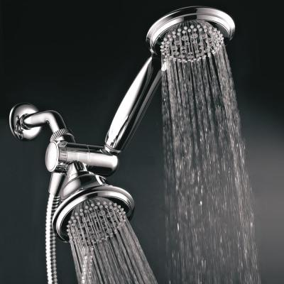 36-spray 4 in. Dual Shower Head and Handheld Shower Head with Waterfall in Chrome