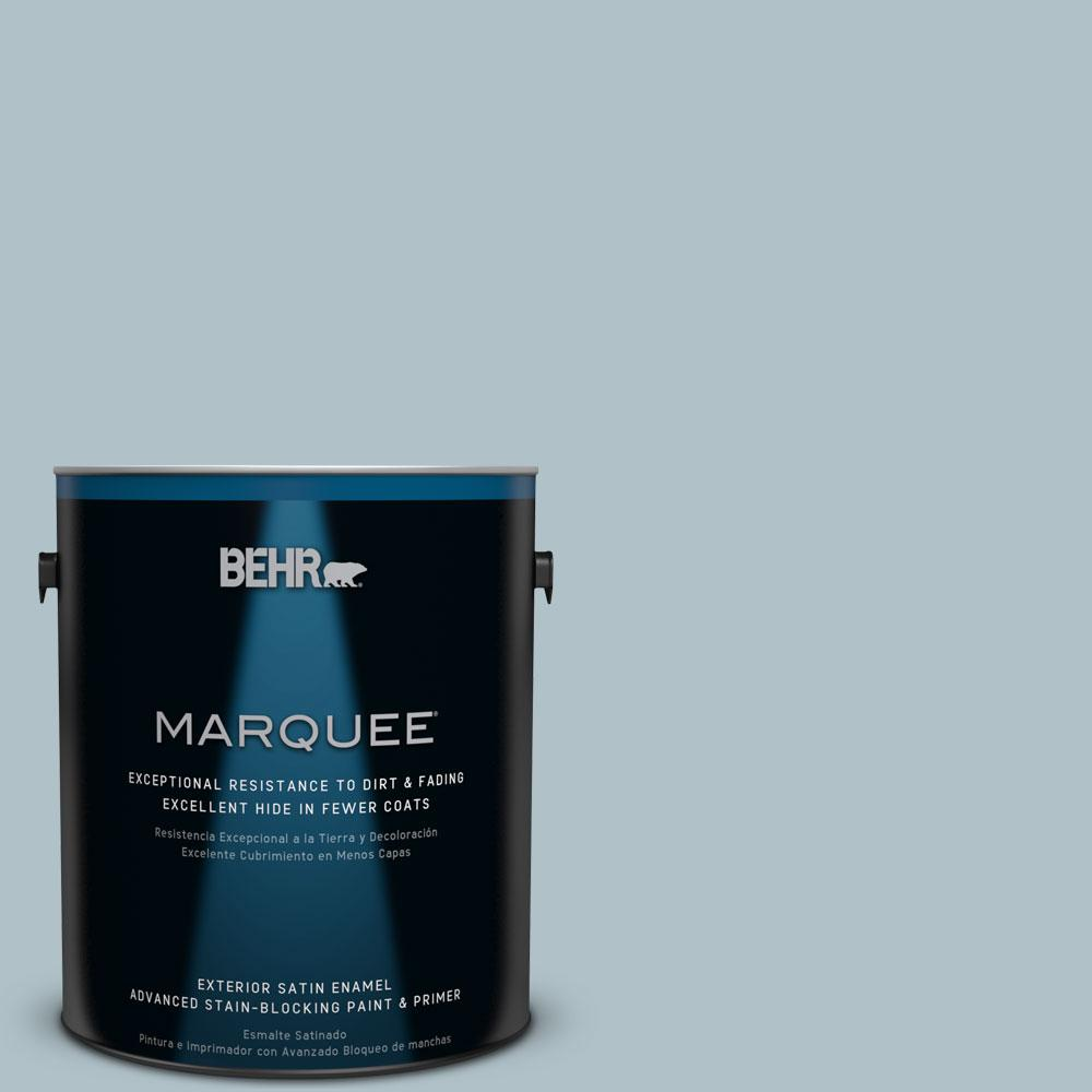 BEHR MARQUEE 1-gal. #PPU13-14 Ozone Satin Enamel Exterior Paint