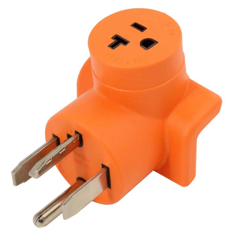 Dryer Outlet Adapter 4-Prong Dryer 14-30P Plug to Household 15/20 Amp