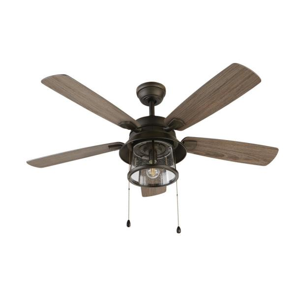 Home Decorators Collection Shanahan 52 In Led Indoor Outdoor Bronze Ceiling Fan With Light Kit 59201 The Home Depot