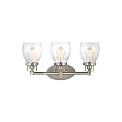 Belton 21 in. W. 3-Light Brushed Nickel Bath Light