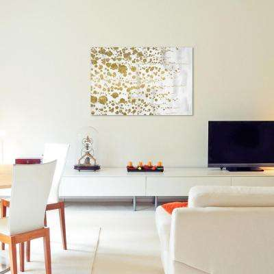 "24 in. x 36 in. ""Gradual Gold"" by Wynwood Studio Framed Printed Canvas Wall Art"