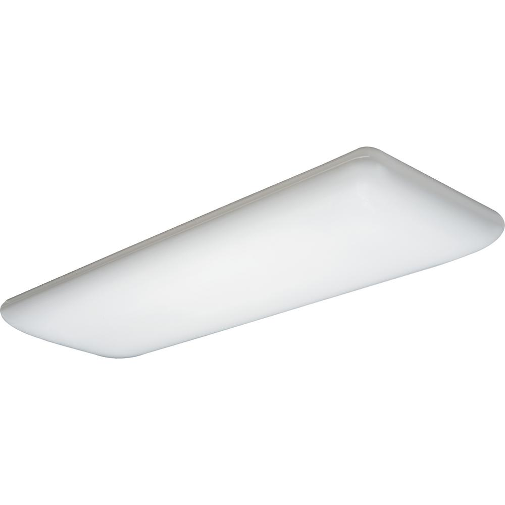 Lithonia Lighting 4 Light White Fluorescent Ceiling Light